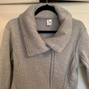 Old Navy Cowl Neck Gray Zip-Up Sweatshirt Medium